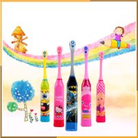 Wholesale Hottest toothbrush electric rechargeable toothbrush ultrasonic toothbrush cartoon pattern with replacement toothbrush head for kids by DHL