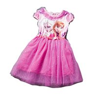 Wholesale Sequins Princess Anna Elsa Dress Snow Queen Halloween Party Role play Costume long style Girl Dress Summer YGirls Clothes
