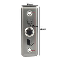 access door steel - Small Stainless Steel Exit Push Release Button V For Door Switch Access Control F1658D