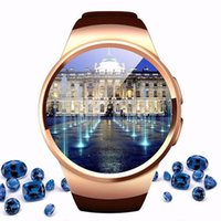 Wholesale New fashion man watch Bluetooth watch phone with Heart Rate Monitor Step gauge analysis remote control camera for KW18 Smart Watch