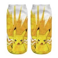 ash knitted - Adult Poke go Socks Poke Pikachu Squirtle Ash Boat Socks Ankle Socks Poke Pikachu cartoon Sock Poke Ball Sock Slippers Hosiery B798
