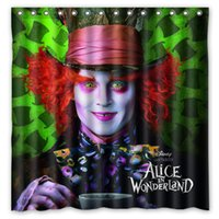 alice curtain - Alice in Wonderland Pattern Custom x cm Shower Curtain Home Decor Waterproof Fabric Fashion Bath Curtain SCN