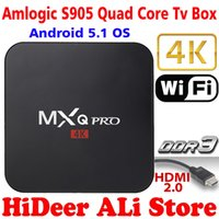 Wholesale ACEMAX MXQ PRO K Amlogic S905 Quad Core Bit Android TV Box K Android OS KODI Jarvis H HDMI WIFI G RAM G ROM