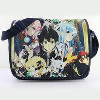 art school online - New Brand cross body school bag Fashion AnimeSword Art Online single shoulder bag canvas messenger bag No
