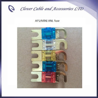 Wholesale Hot Sale bag Car Accessory Low voltage Golden Plated Car Auto MINI ANL Fuse AFS Fuse