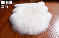 Wholesale WonderFur SP1101 P cm sheepskin rug colors shaggy sheep skin carpet for home decor floor cover sofa cover blanket