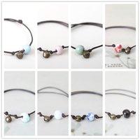 bead bracelet clasp - 90 Off For Women Color Ceramic Beads Bracelet Best Sellers Vintage Alloy Bell Accessories Hot Sale Layer Rope Charm Bracelets