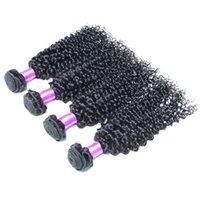 Cheap 7A Unprocessed Brazilian Kinky Curly Virgin Hair Grade 7A Human Hair Weave Kinky Curly Wet Wavy Brazilian Hair 4 Bundles Natural Color