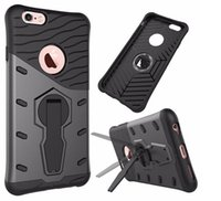 Mini Monopods apple stents iphone - 360 Degree Flip Stents Case For Iphone plus S Plus Samsung Note armor shockproof Hard PC Soft TPU Back Stand Armor Case Shell Cover