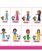 Wholesale 240pcs sea maid Snow White Princess Minifigure Building Blocks one set Kids Diy Assemblage Bricks Model Toy Xmas Gift