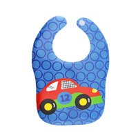 Wholesale Waterproof Cartoon Car Plane Lovely Infant Burp Cloths Cute Bibs For Baby Boy Girl Saliva Towel For Toddler Self Feeding Care