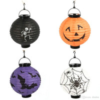 bat houses - Halloween Decorations Portable Lantern Pumpkins Styles Skeletons Spiders Bats Haunted House Party Lighting Decor Holiday Supplies