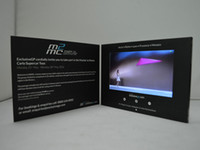 boxed greeting cards - 4 inch digital screen LCD Video Greeting Card invitation Video Brochre video box display for wedding and business Advertising