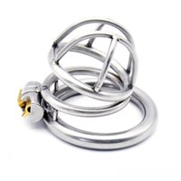 male chastity belt - Newest Stainless Steel Super Small Male Chastity Device Adult Cock Cage With Cock Ring BDSM Sex Toys Bondage Chastity Belt
