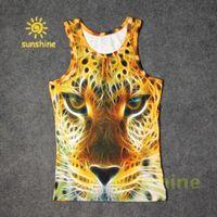 Wholesale Popular new fashion inc D print Gloden leopard cool Mens womens tank tops casual Vest cotton blend summer cloth