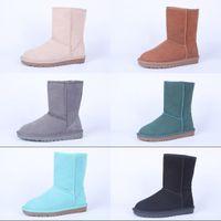 Wholesale Australia Original genuine leather women and men snow boots Unisex classical luxury sheepskin ankle boots