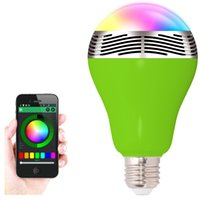 best music device - Best Factory supply APP Wireless Bluetooth Smart LED Light Bulb Music Speaker Lamp Audio Speaker For iPhone iPad IOS Android Devices