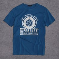 aperture video - New Arrival Portal Aperture Laboratories Logo Men s T shirt Video Game Fan Clothing Shirt cotton Short Sleeve Tshirt