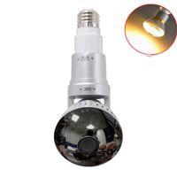 EazzyDV IB-185YM iSmart Bulb WiFi HD960P P2P Caméra réseau IP 2.8mm Lentille avec miroir Cove Yellow Light Haut-parleur intégré 2Way