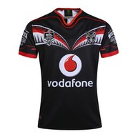 Wholesale 2016 New zealand NRL Warrior Home Rugby Jerseys Man s Rugby Shirts Top Thailand Quality Size XXXL XXL Football Jersey
