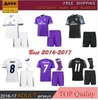 Wholesale DHL Mixed buy Real Madrid RONALDO kits soccer jerseys full sets camisetas de futbol BALE KROOS BENZEMA MARCELO KROOS Football
