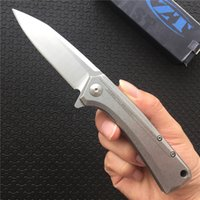 ball pivot - Zero Tolerance Flipper Knife D2 steel Satin Drop point Frame lock EDC Tactical gear Folding blade knives ball bearing pivot zt0808