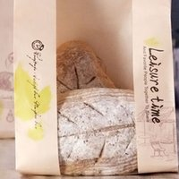 bakery bread paper bags - Kraft Paper Package Bags Bakery Cookies Toast Bread Bags Cake Packing Bag Packing Food Party Favors Decoration PP541