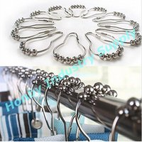 Wholesale pack of mm Shiny Pear Shaped Sliding Shower Curtain Ring Hook
