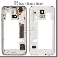 Wholesale For Samsung s5 I9600 G900 G900A G900T G900P G900F G900H G900I middle frame rear back housing with parts replacement parts