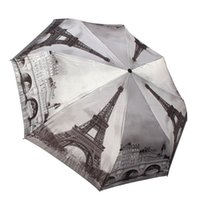 best quality umbrellas - The Best Quality The Best Price Women Umbrella Oil Painting Paris Tower Automatic Folding Sunny and Rainy Umbrellas Women