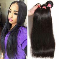 Wholesale Vip Beauty Hair A Peruvian straight hair bundles Unprocessed Silky straight mink Peruvian hair human hair weave