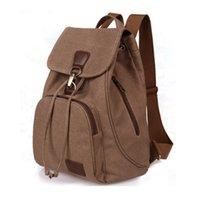 Wholesale Women s Vintage Canvas Backpack Sturdy Rucksack Outdoor Travel Hiking Backpack Medium Size Casual Schoolbag Daypacks Mochila