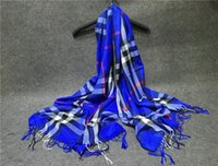 big baba - Warm autumn and winter plaid cotton scarf shawl Baba Ge big fringed scarves for men and women