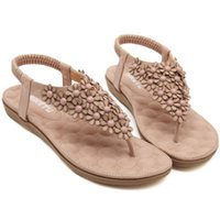ladies fashion shoes - Fashion women summer sandal Ladies Summer Bohemia pinch Flip Flops Shoes EU size