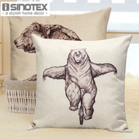 bear outdoor decor - Cushion Covers Cute Bear Pattern cm Decorative Linen Outdoor Pillow Covers New Year Home Decor
