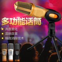 Wholesale most popular High Quality Professional Condenser Microphone Mic w Stand For PC Laptop Skype MSN Singing Free DHL
