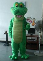 alligator costume - OISK Actual Photo Green Crocodile Alligator Mascot Costumes Halloween Party Animal Character Fancy Outfit Adult Size