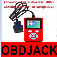 asia c - 2016 Carworth C100 C Universal OBDII OBD2 Gasoline Scanner For Europe USA Asia Car Models CAN BUS DHL Free Ship