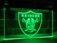 Wholesale LA143b Raiders Football Bar Beer LED Neon Light Sign home decor shop crafts led sign