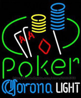 ace table - Corona Light Poker Ace Coin Table Handcrafted Neon Light Sign Display Advertisement Sign Real Glass Tube Casino Club Bar KTV Sign quot X15 quot