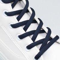 Wholesale Semicircle Coloured Shoe Laces Shoelaces Bootlaces mm Wide Lengths Colours navy blue