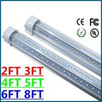 ac brackets - 4 ft Led tube light T8 Integrated Bracket V Shaped W LM AC V cm free FEDEX UPS