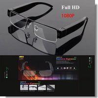 Wholesale New FULL HD P hidden camera glasses camera NEW video recorder HOT mini dvr sunglass V13 eyewear dv support TF card camcorder
