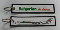 air charter - Bulgarian Air Charter Custom Embroidered Keytag Keychain x cm