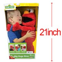 animated streets - 53CM Cartoon Sesame Street Elmo Talks animated phrases amp sounds nap time Plush Toys Soft Stuffed Dolls Children Gifts Brinquedos