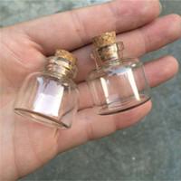 Wholesale 10ml Mini Glass Bottles Cork Empty Cute Transparent Glass Bottle Jars Vials mm