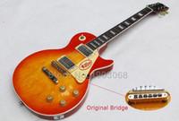 Wholesale price custom shop Aged true Historic Les Reissue electric guitar Aged Vintage Cherry Sunburst LP guitar Origina with hardcase