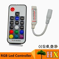 Wholesale DC12v v channel A RF wireless mini rgb led remote controller to control led strip smd lighting