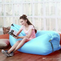 Wholesale Ultra light outdoor portable folding sofa sofa lazy lazy sofa inflatable bed Beach air bag