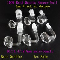 Wholesale 4mm thick Honey bucket quartz nail with degree pocket banger nail mm for Titanium Nail Glass bong Bongs water pipe